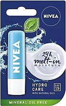 Parfémy, Parfumerie, kosmetika Balzám na rty ''Akva péče'' SPF 15 - Nivea Lip Care Hydro Care Lip Balm