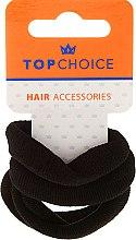 Parfémy, Parfumerie, kosmetika Gumičky do vlasů 4 ks, černé - Top Choice