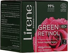 Parfémy, Parfumerie, kosmetika Regenerační noční krém na obličej - Lirene Green Retinol Regenerating Night Cream 60+