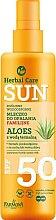 Parfémy, Parfumerie, kosmetika Voděodolné mléko na opalování - Farmona Herbal Care Sun SPF 50
