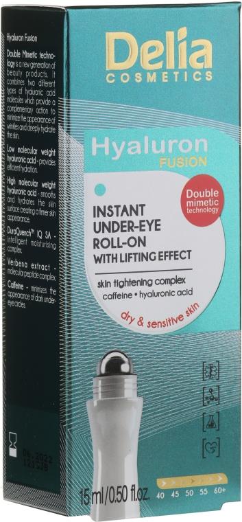 Liftingový gel pro pokožku kolem očí - Delia Lifting Roll-On 3D Hyaluron Gel