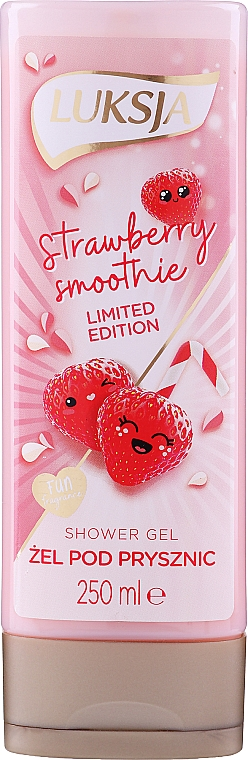 """Krém-gel do sprchy """"Jahodové smoothie"""" - Luksja Coconut Strawberry Smoothie Shower Gel"""