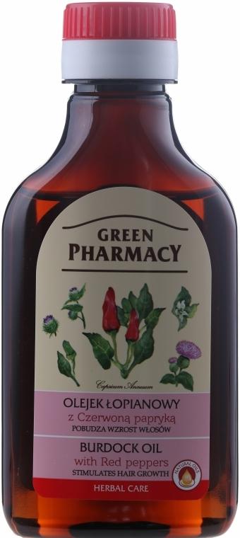 Lopuchový olej s červenou paprikou pro růst vlasů - Green Pharmacy