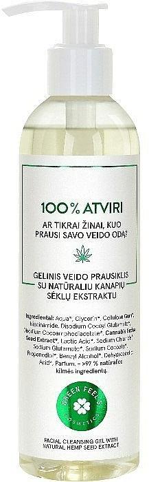 Čisticí gel na obličej s přírodním extraktem z konopných semen - Green Feel's