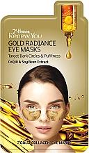 """Parfémy, Parfumerie, kosmetika Maska pro oční kontury """"Zlatá záře"""" - 7th Heaven Renew You Gold Radiance Eye Masks"""