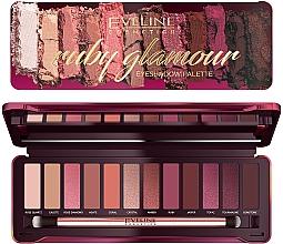 Parfémy, Parfumerie, kosmetika Paleta očních stínů - Eveline Cosmetics Ruby Glamour Eyeshadow Palette