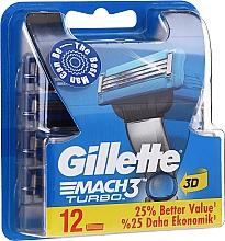 Parfémy, Parfumerie, kosmetika Vyměnitelné kazety na holení, 12 ks. - Gillette Mach3 Turbo