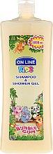 """Parfémy, Parfumerie, kosmetika Sprchový gel a šampon v jednom """"Žvýkačka"""" - On Line Kids Shampoo & Body Wash Bubble Gum"""