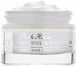 Parfémy, Parfumerie, kosmetika Bath House Patchouli & Black Pepper - Krém na ruce