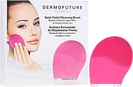 Parfémy, Parfumerie, kosmetika Zvukový kartáč pro čištění obličeje, růžový - Dermofuture
