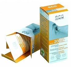 Parfémy, Parfumerie, kosmetika Opalovací krém SPF 20 s extraktem z granátu a rakytníku - Eco Cosmetics Suntan Cream SPF 20