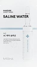 Parfémy, Parfumerie, kosmetika Hydratační pleťová maska s extraktem slané vody - Missha Mascure AC Care Solution Sheet Mask Saline Water