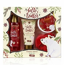 Parfémy, Parfumerie, kosmetika Sada - Accentra Hello Winter Baked Apple (sh/g/150ml + b/lot/60ml + salt/70g + sponge)