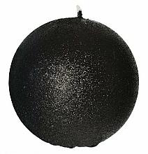 Parfémy, Parfumerie, kosmetika Dekorativní svíčka, koule, černá, 8 cm - Artman Glamour