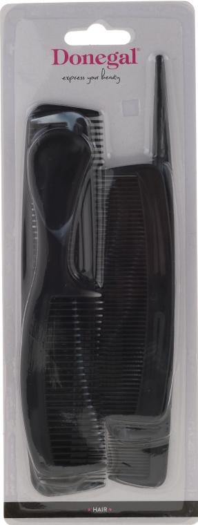 Sada kartáčů na vlasy, černá, 9816, 6 ks - Donegal Hair  — foto N1
