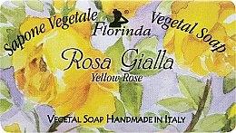 Parfémy, Parfumerie, kosmetika Mýdlo přírodní Žlutá růže - Florinda Sapone Vegetal Soap Yellow Rose