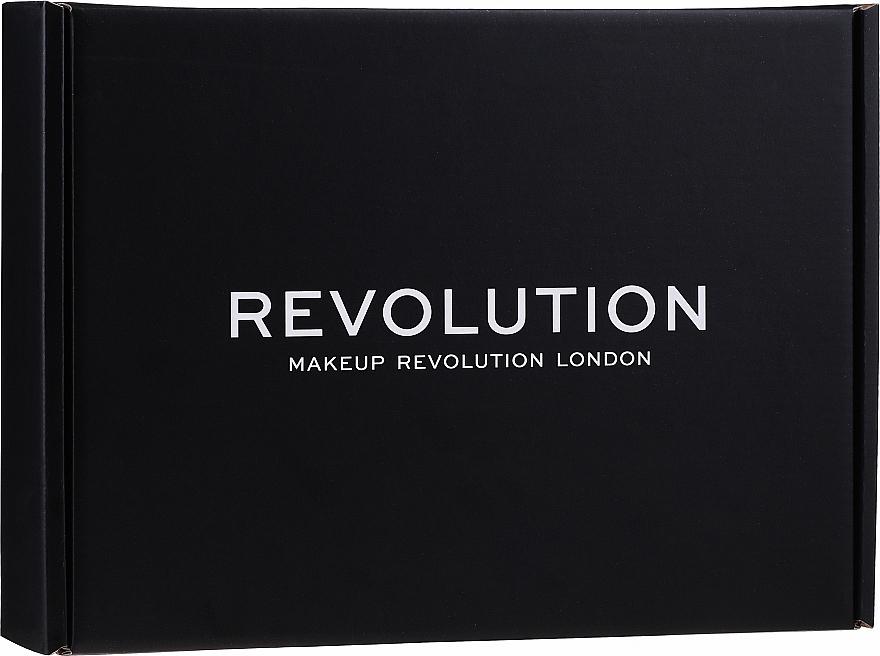 Sada - Makeup Revolution Black Box Set № 1 (eye/palette/16g + highlighter/14g + powder/5.5g + br/gel/6ml + f/stick/6.2g + lipstick/3.5g + l/balm/2.2g)