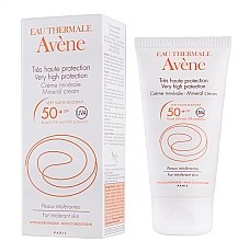 Parfémy, Parfumerie, kosmetika Ochranná péče proti slunci - Avene Solaires Mineral Cream SPF 50+