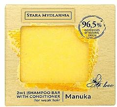 Parfémy, Parfumerie, kosmetika Tuhý šampon-kondicionér - Stara Mydlarnia Manuka Honey 2in1 Shampoo Bar