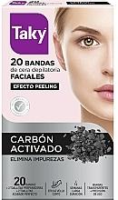 Parfémy, Parfumerie, kosmetika Voskové pásky pro depilaci obličeje s aktivním uhlím - Taky Activated Carbon Facial Wax Strips