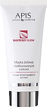 Parfémy, Parfumerie, kosmetika Gelová maska na obličej z lyofilizovaných malin - Apis Professional Raspberry Glow Freeze-Dried Rasberry Gel Mask