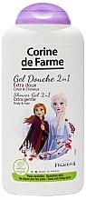 """Parfémy, Parfumerie, kosmetika Šampon a sprchový gel 2 v 1 """"Anna a Elsa"""" - Corine de Farme Frozen"""
