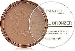 Parfémy, Parfumerie, kosmetika Bronzující pudr na obličej - Rimmel Natural Bronzer Powder