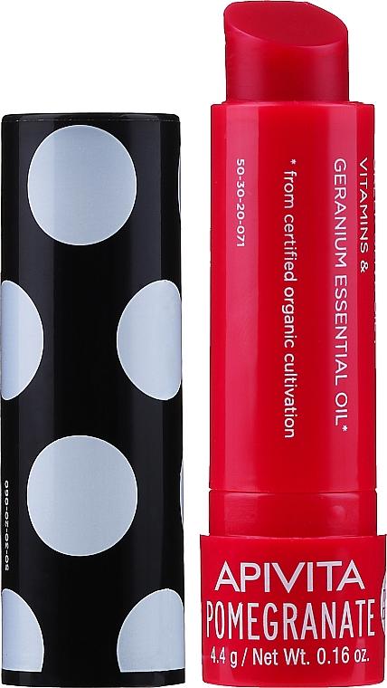 Balzám na rty se včelím voskem a granátem - Apivita Ruby Lips Limited Edition 40 Years Lip Care Pomegranate