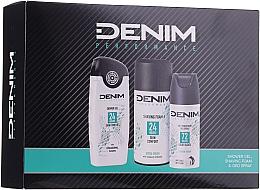 Parfémy, Parfumerie, kosmetika Sada - Denim Extrem Fresh Set (deo/150ml + sh/gel/250ml + shav/foam/200ml)