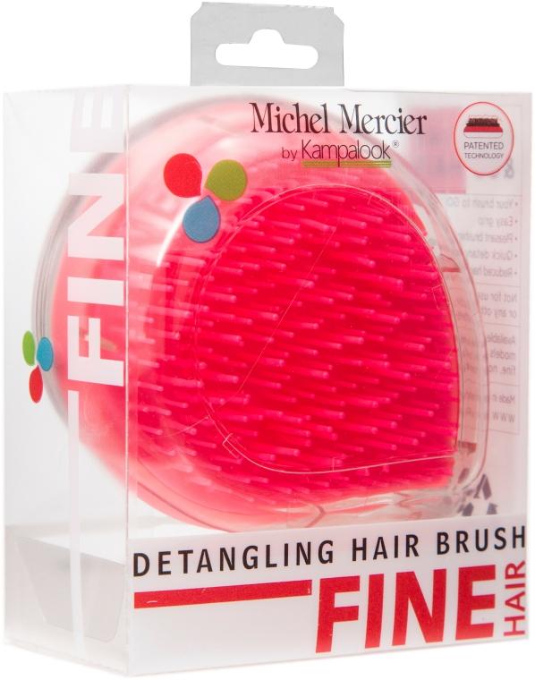 Kompaktní kartáč na jemné vlasy, růžový - Michel Mercier Travel Detangling Brush — foto N1