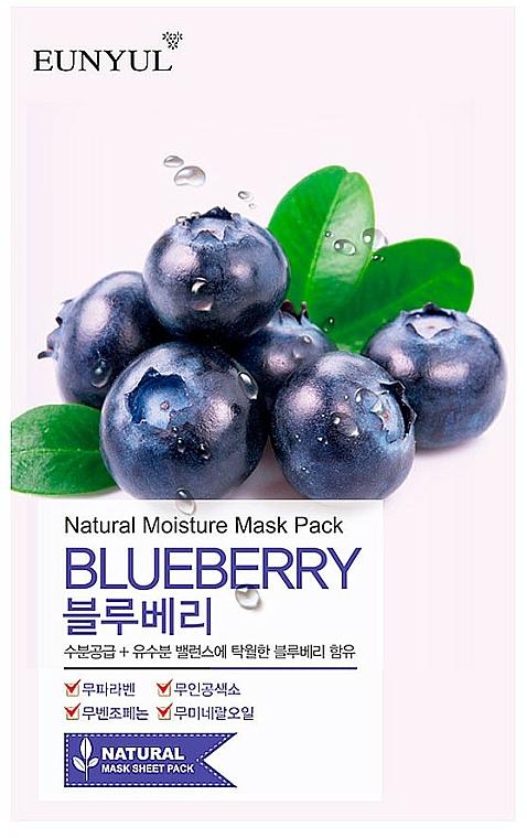 Látková pleťová maska s borůvkovým extraktem - Eunyul Natural Moisture Blueberry Mask