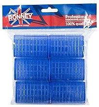 Parfémy, Parfumerie, kosmetika Natáčky na suchý zip 40/63, modré - Ronney Professional Velcro Roller