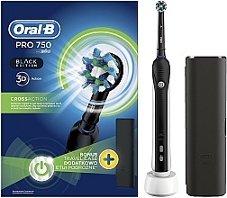 Parfémy, Parfumerie, kosmetika Elektrický zubní kartáček - Oral-B Pro 2 2500 Black Edition