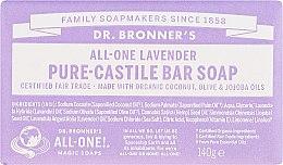 Parfémy, Parfumerie, kosmetika Mýdlo Levandule - Dr. Bronner's Pure Castile Bar Soap Lavender