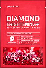 Parfémy, Parfumerie, kosmetika Zesvětlující ampulní maska s diamantovým pudrem - Some By Mi Diamond Brightening Calming Glow Luminous Ampoule Mask