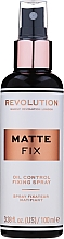 Parfémy, Parfumerie, kosmetika Sprej pro fixaci make-upu - Makeup Revolution Matte Fix Oil Control Fixing Spray