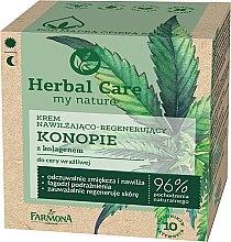 """Parfémy, Parfumerie, kosmetika Krém na obličej """"Konopí s kolagenem"""" - Farmona Herbal Care"""
