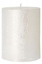 Parfémy, Parfumerie, kosmetika Dekorativní svíčka, perleťová, 7x10 cm - Artman Rustic Metalic