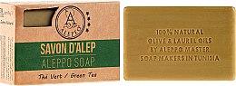 """Parfémy, Parfumerie, kosmetika Alepské mýdlo """"Zelený čaj"""" - Alepeo Aleppo Soap Green Tea 8%"""