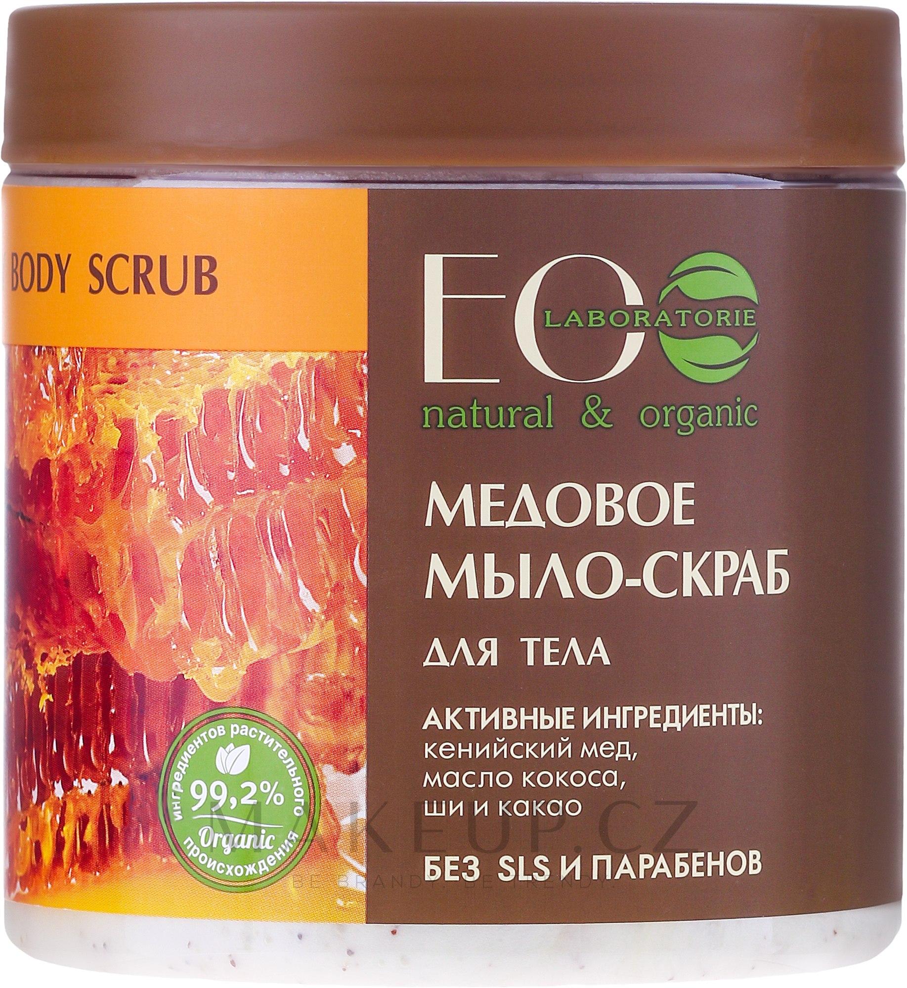 """Peelingové mýdlo na tělo """"Medové"""" - ECO Laboratorie Natural & Organic Honey Body Scrub — foto 450 ml"""