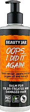 Parfémy, Parfumerie, kosmetika Balzám na poškozené a barvené vlasy - Beauty Jar Oops I Did It Again