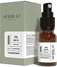 Parfémy, Parfumerie, kosmetika Ustní sprej na bázi oleje Oliva 5% - Herbliz CBD Olive Fresh Oil Mouth Spray 5%