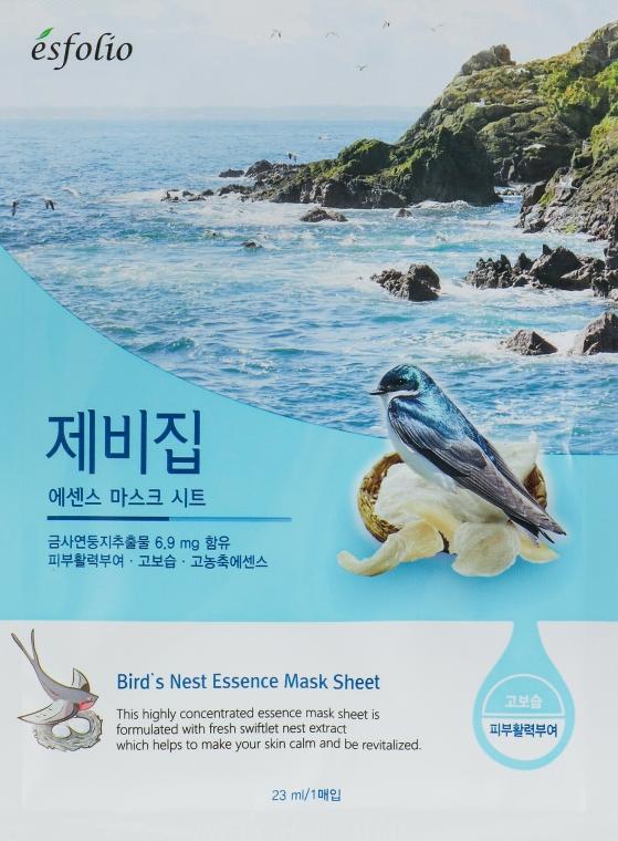 Látková maska Vlastovci hnizdo - Esfolio Bird's Nest Essence Mask Sheet
