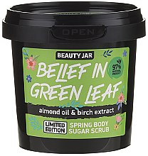 Parfémy, Parfumerie, kosmetika Cukrový peeling na tělo - Beauty Jar Belief In Green Leaf Spring Body Sugar Scrub