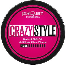 Parfémy, Parfumerie, kosmetika Fixační gel s účinkem mokrých vlasů - PostQuam Extraordinhair Crazy Style Wet Look Fluid Gel