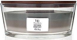Parfémy, Parfumerie, kosmetika Vonná svíčka ve sklenici - WoodWick Cozy Cabin Trilogy Ellipse Candle