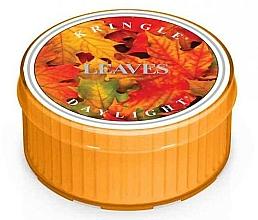 Parfémy, Parfumerie, kosmetika Čajová svíčka - Kringle Candle Daylight Leaves