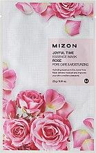 Parfémy, Parfumerie, kosmetika Látková maska s extraktem růže - Mizon Joyful Time Essence Mask Rose