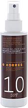 Parfémy, Parfumerie, kosmetika Olej na opalování - Korres Clear Sunscreen Body Face Walnut Coconut Oil SPF10