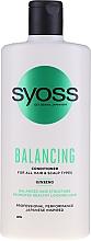 Parfémy, Parfumerie, kosmetika Balzám s ženšenem pro všechny typy vlasů a pokožky hlavy - Syoss Balancing Ginseng Conditioner